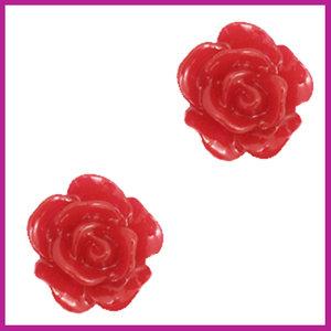 Roosje kraal 10mm samba red