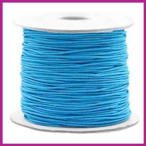 Gekleurd elastisch draad Ø0,8mm per meter aqua blue
