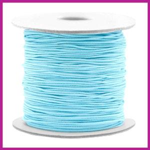 Gekleurd elastisch draad Ø0,8mm light turquoise blue