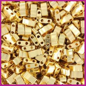 Miyuki Half TILA 24kt gold plated 191