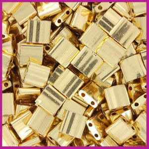 Miyuki TILA 24kt gold plated 191