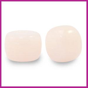 Glaskraal rondel 8mm light peach pink