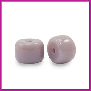Glaskraal rondel 6mm heather purple