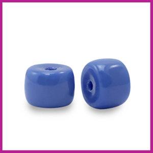 Glaskraal rondel 6mm princess blue