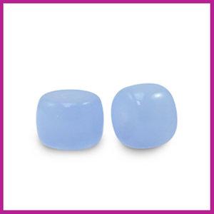Glaskraal rondel 6mm soft blue