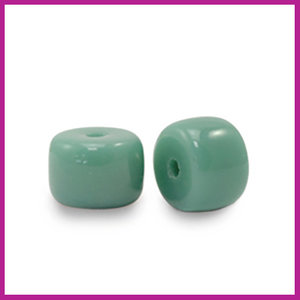 Glaskraal rondel 6mm sea green