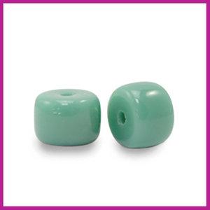 Glaskraal rondel 6mm malachite green
