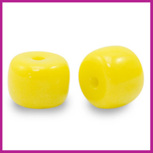 Glaskraal rondel 8mm yellow