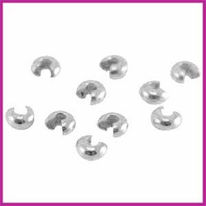 DQ metaal knijpkraalverberger 5mm Antiek zilver