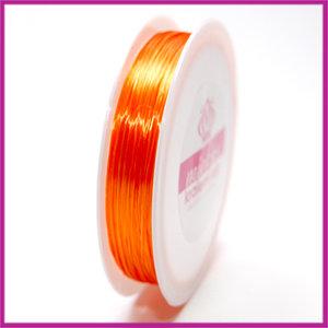 Elastisch nylon plat 0,8mm oranje