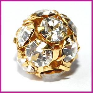 Strassbal goud crystal ø10 mm