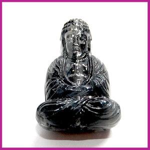 DQ acryl kunststof kraal boeddha grijs