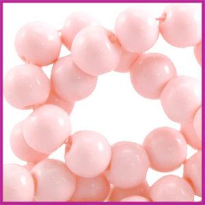 Glaskraal opaque ø6mm Pastel roze