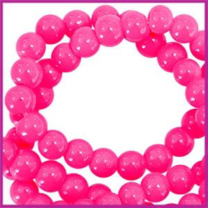 Glaskralen basic opaque ø3mm neon pink