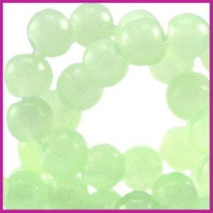 Glaskraal ø6mm opaal vintage Licht groen