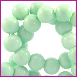Glaskraal opaque ø6mm Mint groen