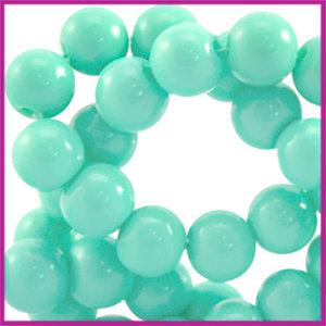 Glaskraal opaque ø6mm Groen turquoise