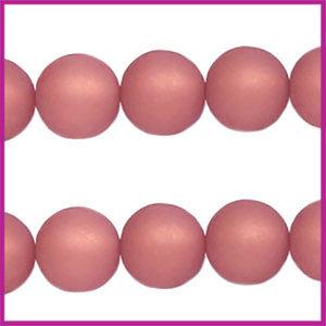 Polaris kraal matt rond 6mm Antique Pink