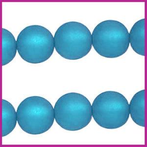 Polaris kraal matt rond 6mm Blue Zircon