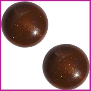 Cabuchon Polaris 12mm centroperla brown