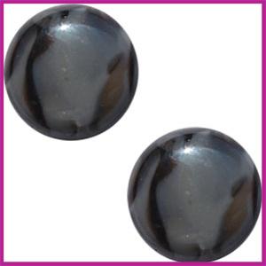 Polaris cabuchon 20mm stone look Zwart grijs