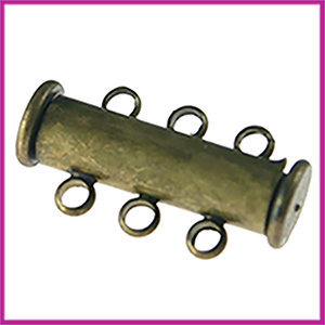 Magnetisch schuifslot met 3 oogjes 20x10mm MAG