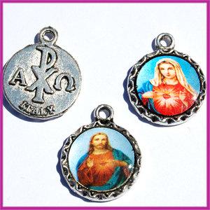 Metaal hanger religieus medalion AZ