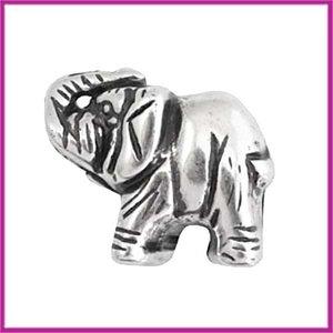 DQ acryl kraal olifant metaallook zilver