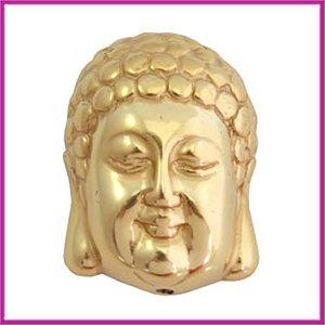 DQ acryl kraal metaallook Buddha groot goud