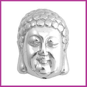 DQ acryl kraal metaallook Buddha groot zilver