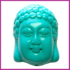 DQ acryl kraal Buddha groot turquoise