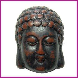 DQ acryl kraal Buddha groot zwart-bruin