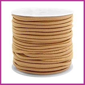 Gekleurd elastisch draad Ø2,5mm Camel brown