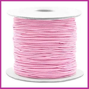 Gekleurd elastisch draad Ø0,8mm per meter Light pink