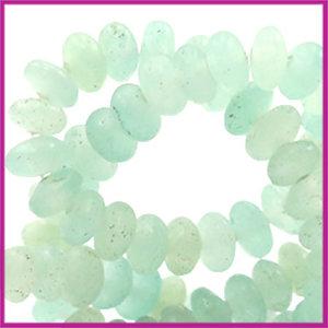 Natuursteen kralen disc 4mm Light turquoise green