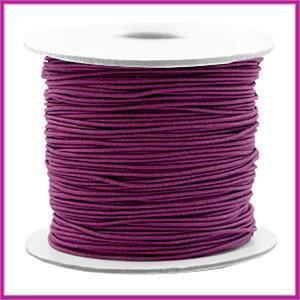 Gekleurd elastisch draad Ø0,8mm per meter Aubergine purple