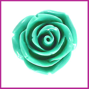 Kunststof kraal roos 22mm Turquoise groen blauw