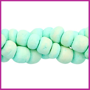 Kokos kralen disc 4mm Light turquoise green