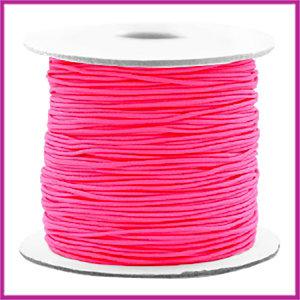 Gekleurd elastisch draad Ø0,8mm per meter Fluor pink