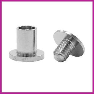 DQ metaal snap rivets Antiek zilver